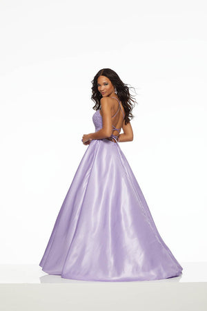 Morilee 43081 prom dress images.  Morilee 43081 is available in these colors: Lilac, Turquoise.