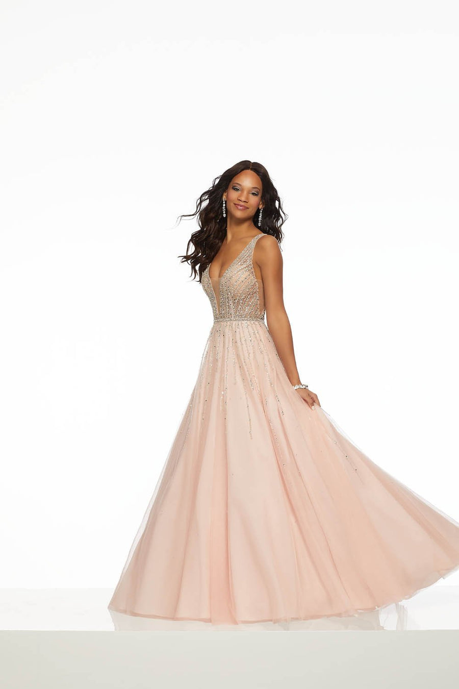 Morilee 43082 prom dress images.  Morilee 43082 is available in these colors: Blush, Light Purple.