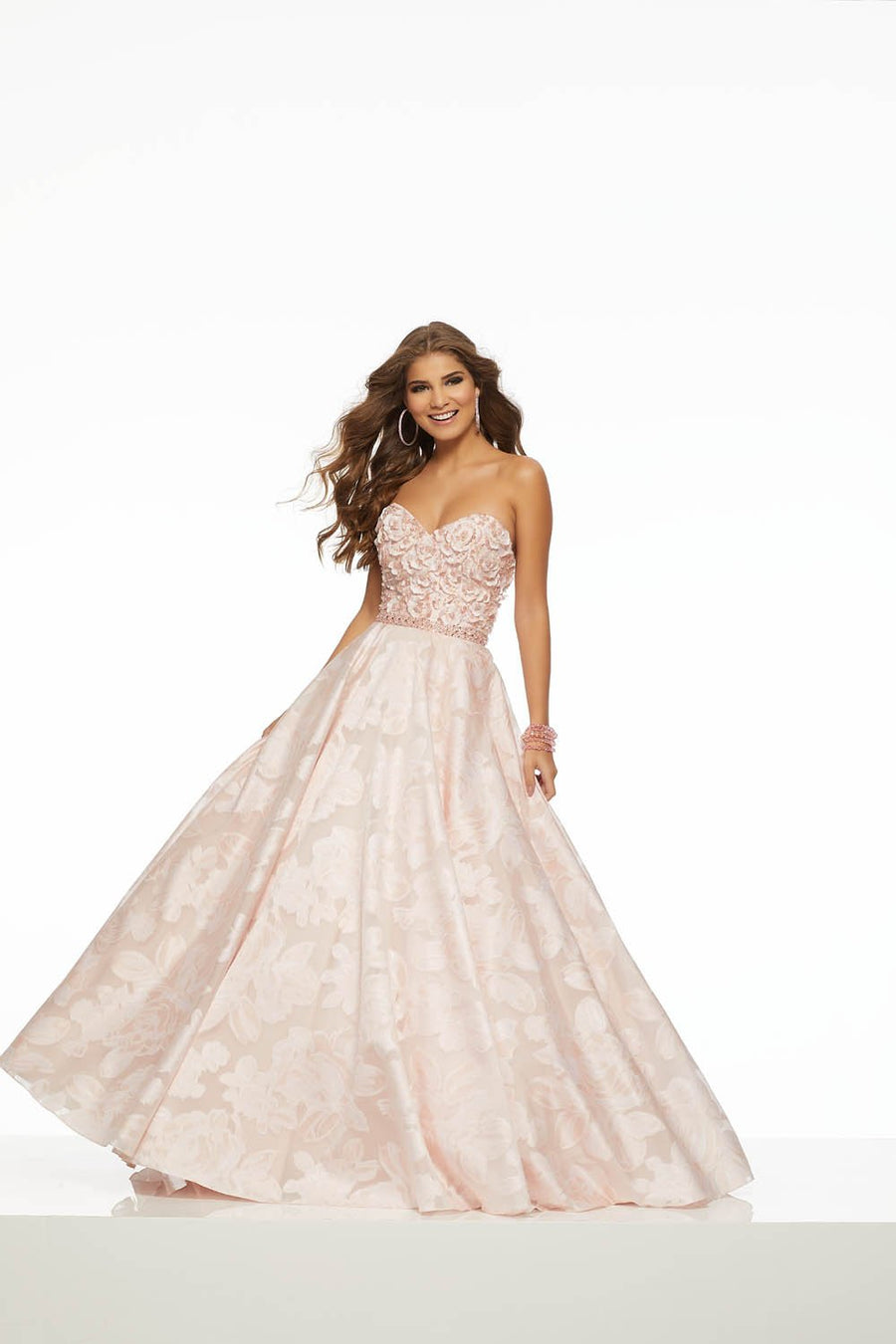 Morilee 43083 prom dress images.  Morilee 43083 is available in these colors: Blush, Lilac.