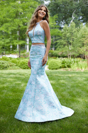 Morilee 43085 prom dress images.  Morilee 43085 is available in these colors: Aqua, Pink.