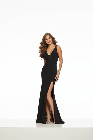 Morilee 43088 prom dress images.  Morilee 43088 is available in these colors: Black, Ivory, Navy.