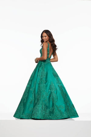 Morilee 43089 prom dress images.  Morilee 43089 is available in these colors: Emerald, Navy.