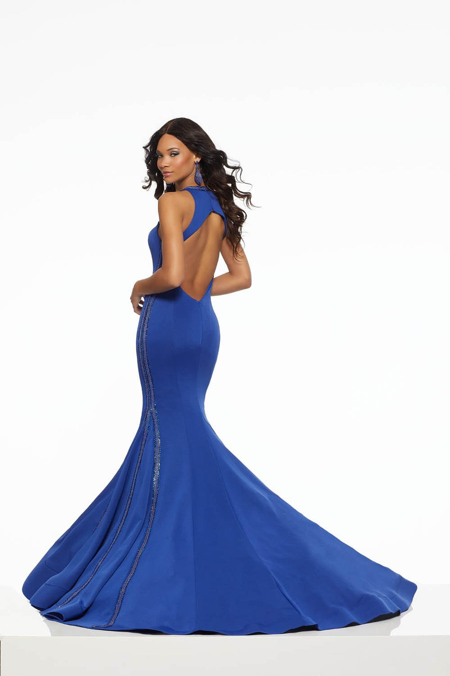 Morilee 43091 prom dress images.  Morilee 43091 is available in these colors: Royal, White Silver.