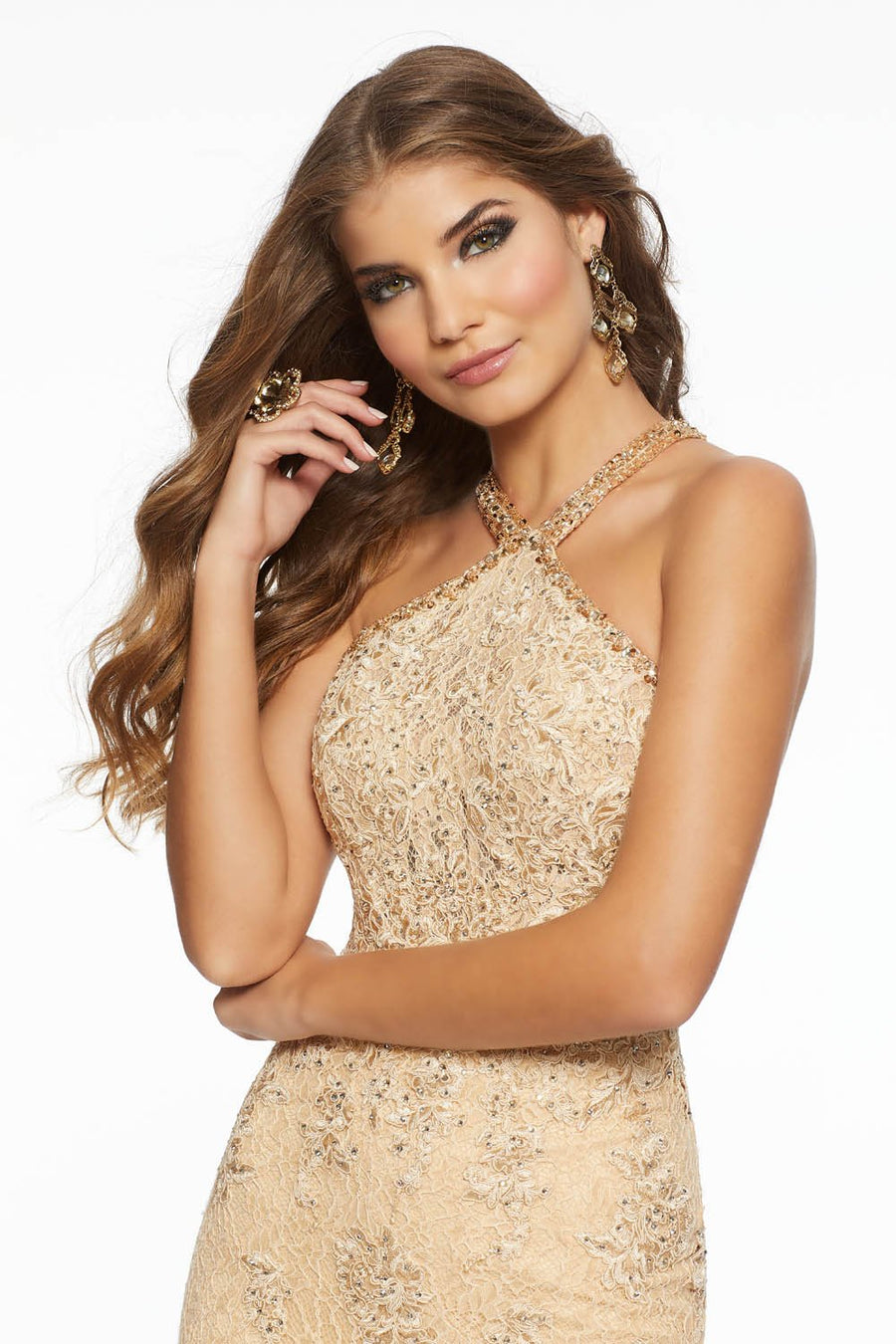 Morilee 43092 prom dress images.  Morilee 43092 is available in these colors: Champagne, Navy.