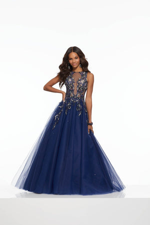 Morilee 43093 prom dress images.  Morilee 43093 is available in these colors: Navy, Nude.