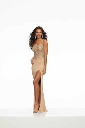 Morilee 43094 prom dress images.  Morilee 43094 is available in these colors: Champagne, Royal.
