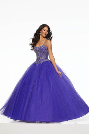 Morilee 43096 prom dress images.  Morilee 43096 is available in these colors: Blush, Deep Purple.