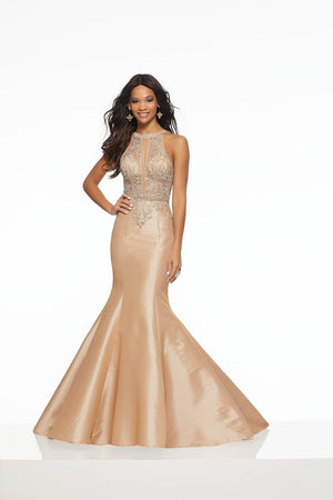 Morilee 43097 prom dress images.  Morilee 43097 is available in these colors: Latte, Purple.