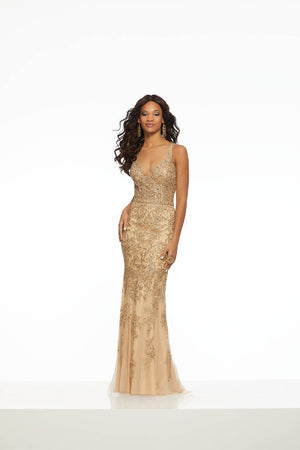 Morilee 43098 prom dress images.  Morilee 43098 is available in these colors: Champagne Gold, Navy.