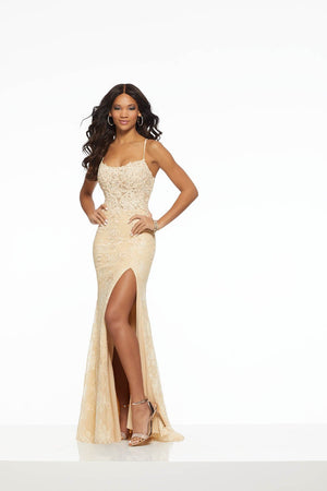 Morilee 43100 prom dress images.  Morilee 43100 is available in these colors: Champagne, Red, Royal.