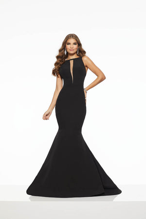 Morilee 43101 prom dress images.  Morilee 43101 is available in these colors: Black, Red.