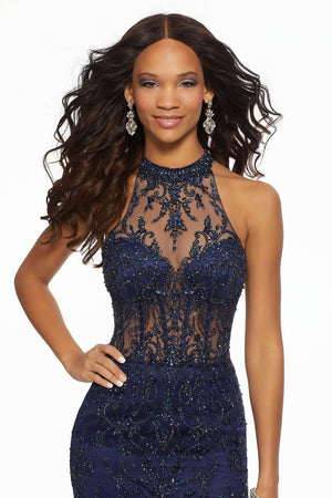 Morilee 43102 prom dress images.  Morilee 43102 is available in these colors: Navy, Scarlet.