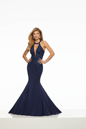 Morilee 43103 prom dress images.  Morilee 43103 is available in these colors: Cherry, Navy.