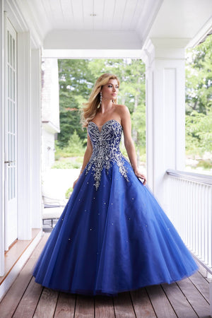 Morilee 43104 prom dress images.  Morilee 43104 is available in these colors: Black Gold, Navy Silver.