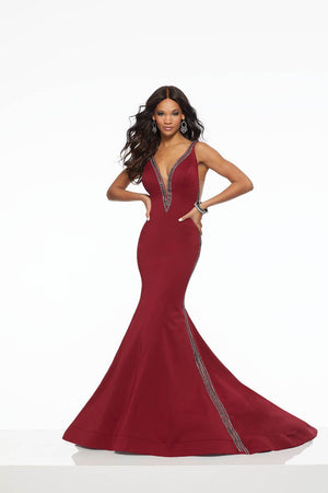 Morilee 43106 prom dress images.  Morilee 43106 is available in these colors: Royal, Wine.