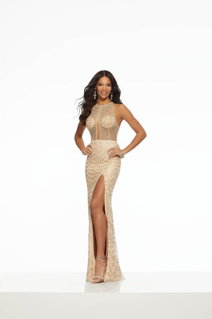 Morilee 43109 prom dress images.  Morilee 43109 is available in these colors: Black, Nude.