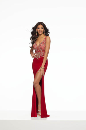 Morilee 43110 prom dress images.  Morilee 43110 is available in these colors: Red, Royal.