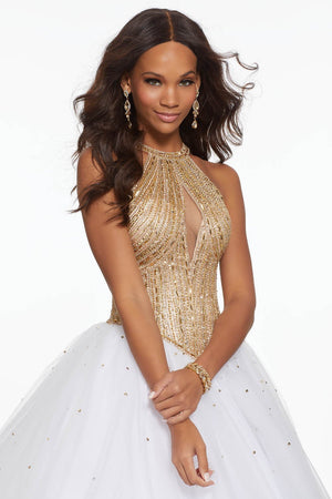 Morilee 43111 prom dress images.  Morilee 43111 is available in these colors: Sangria, White.
