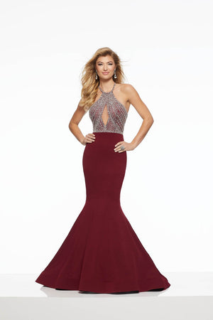 Morilee 43112 prom dress images.  Morilee 43112 is available in these colors: Ivory, Wine.