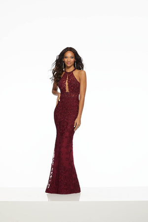 Morilee 43115 prom dress images.  Morilee 43115 is available in these colors: Navy, Wine.
