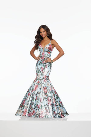 Morilee 43116 prom dress images.  Morilee 43116 is available in these colors: Tropical Floral.