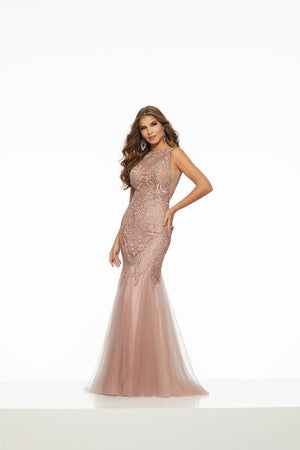 Morilee 43119 prom dress images.  Morilee 43119 is available in these colors: Dusty Rose, Wine.