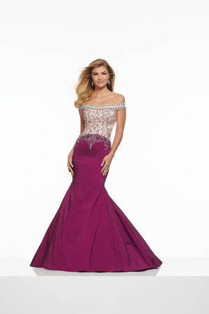 Morilee 43120 prom dress images.  Morilee 43120 is available in these colors: Black Nude, Black Cherry Nude.