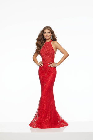 Morilee 43124 prom dress images.  Morilee 43124 is available in these colors: Purple, Red.