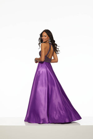 Morilee 43125 prom dress images.  Morilee 43125 is available in these colors: Bright Purple, Royal.