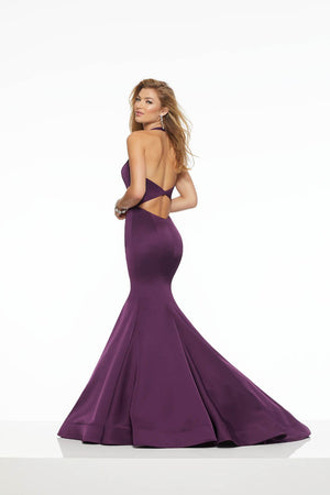 Morilee 43127 prom dress images.  Morilee 43127 is available in these colors: Bright Blue, Eggplant.