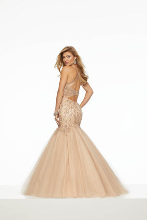 Morilee 43134 prom dress images.  Morilee 43134 is available in these colors: Black, Nude.