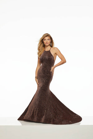 Morilee 43137 prom dress images.  Morilee 43137 is available in these colors: Black Silver, Black Bronze.