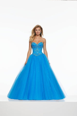 Morilee 43140 prom dress images.  Morilee 43140 is available in these colors: Cobalight, Nude.