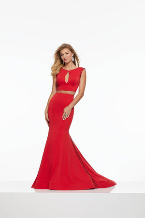 Morilee 43142 prom dress images.  Morilee 43142 is available in these colors: Black, Red.
