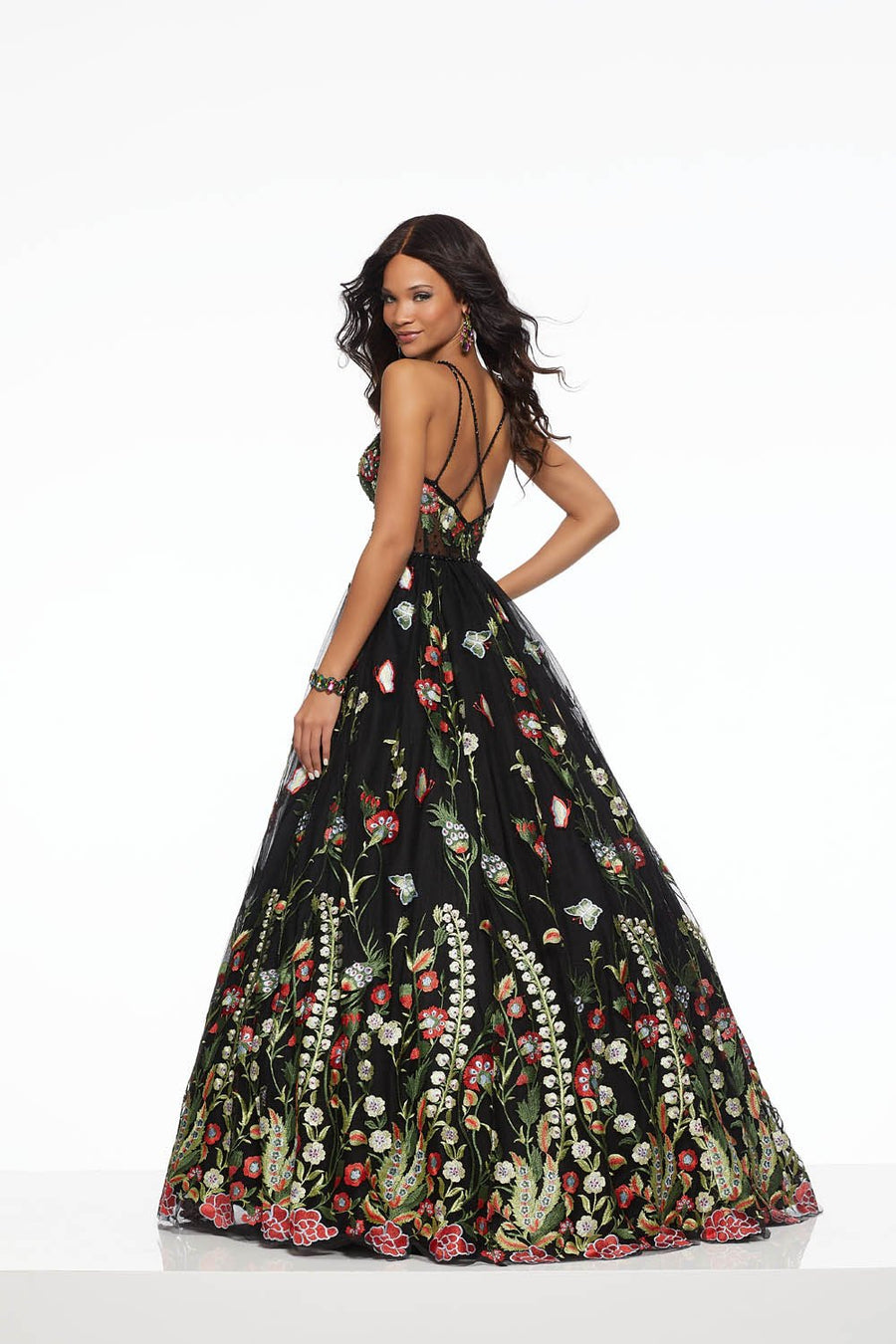 Morilee 43143 prom dress images.  Morilee 43143 is available in these colors: Black Mulighti.
