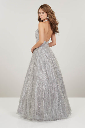 Panoply 14913 prom dress images.  Panoply 14913 is available in these colors: Rose Gold, Silver.