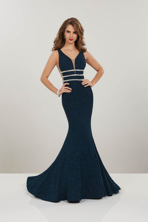 Panoply 14917 prom dress images.  Panoply 14917 is available in these colors: Red, Royal, Teal.