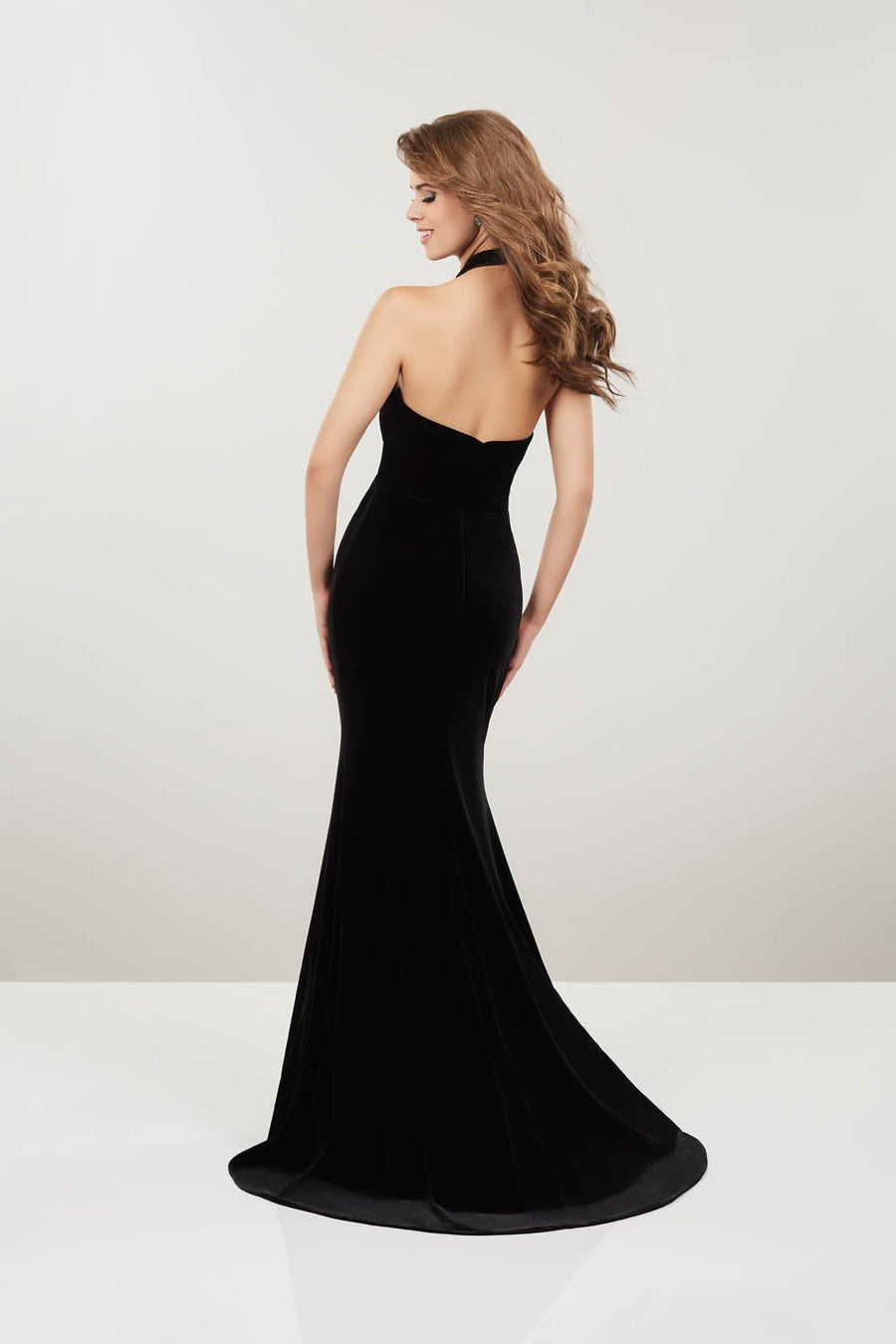 Panoply 14920 prom dress images.  Panoply 14920 is available in these colors: Black, Magenta, Royal.