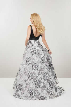 Panoply 14921 prom dress images.  Panoply 14921 is available in these colors: Gunmetal Garden.