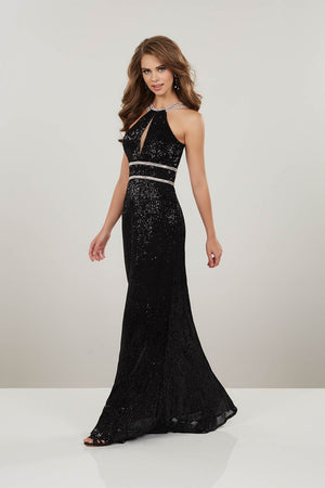 Panoply 14922 prom dress images.  Panoply 14922 is available in these colors: Black, Pink, Rose Gold.