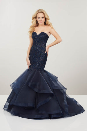 Panoply 14923 prom dress images.  Panoply 14923 is available in these colors: Navy, Silver.