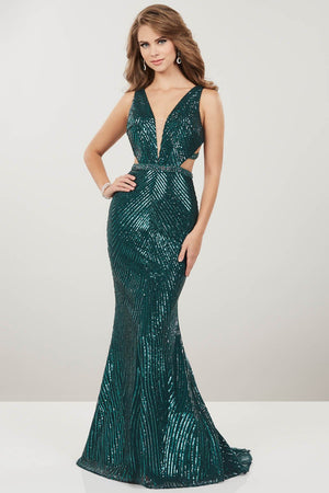Panoply 14932 prom dress images.  Panoply 14932 is available in these colors: Hunter, Rose Gold.