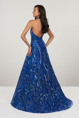 Panoply 14934 prom dress images.  Panoply 14934 is available in these colors: Royal, Silver.