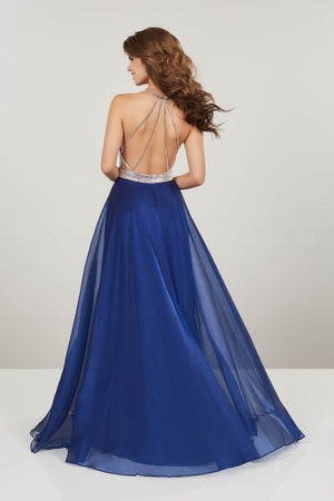 Panoply 14938 prom dress images.  Panoply 14938 is available in these colors: Coral, Midnight.
