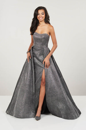Panoply 14943 prom dress images.  Panoply 14943 is available in these colors: Gold, Gunmetal, Royal.
