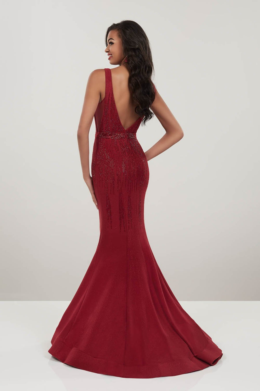Panoply 14946 prom dress images.  Panoply 14946 is available in these colors: Emerald, Wine.