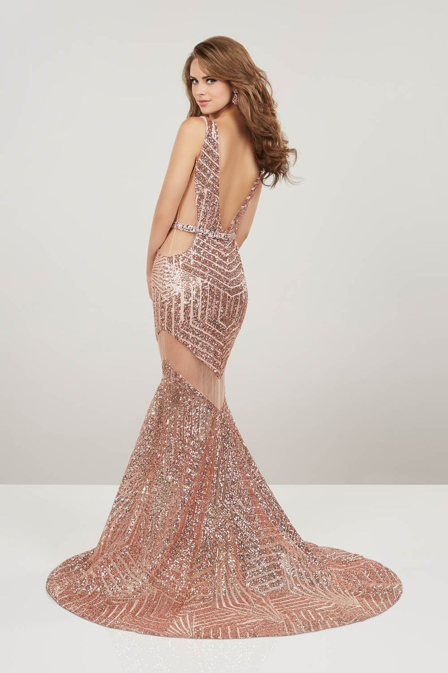 Panoply 14951 prom dress images.  Panoply 14951 is available in these colors: Black, Rose Gold.