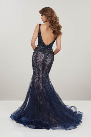 Panoply 14957 prom dress images.  Panoply 14957 is available in these colors: Navy, Red.