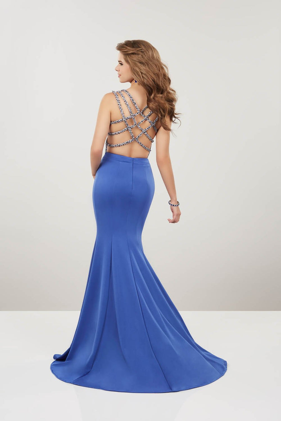 Panoply 14962 prom dress images.  Panoply 14962 is available in these colors: Red, Royal, Yellow.