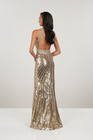 Panoply 14963 prom dress images.  Panoply 14963 is available in these colors: Black Silver, Gold Silver.